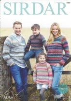 Sirdar Aura Chunky - 7884 Sweaters Knitting Pattern